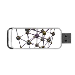 Grid Construction Structure Metal Portable USB Flash (Two Sides)