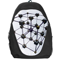 Grid Construction Structure Metal Backpack Bag