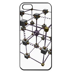 Grid Construction Structure Metal Apple iPhone 5 Seamless Case (Black)