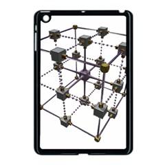 Grid Construction Structure Metal Apple iPad Mini Case (Black)