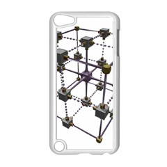 Grid Construction Structure Metal Apple iPod Touch 5 Case (White)