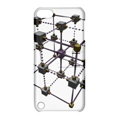 Grid Construction Structure Metal Apple iPod Touch 5 Hardshell Case with Stand