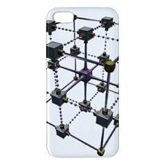 Grid Construction Structure Metal Apple iPhone 5 Premium Hardshell Case