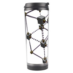 Grid Construction Structure Metal Travel Tumbler