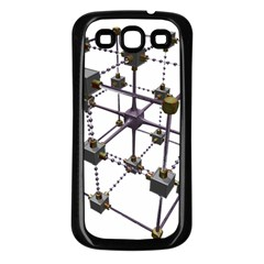 Grid Construction Structure Metal Samsung Galaxy S3 Back Case (Black)