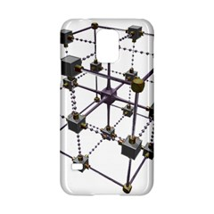 Grid Construction Structure Metal Samsung Galaxy S5 Hardshell Case