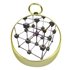 Grid Construction Structure Metal Gold Compasses