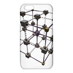 Grid Construction Structure Metal iPhone 6/6S TPU Case