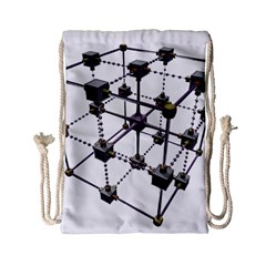 Grid Construction Structure Metal Drawstring Bag (Small)