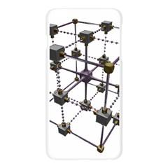 Grid Construction Structure Metal Apple Seamless iPhone 6 Plus/6S Plus Case (Transparent)