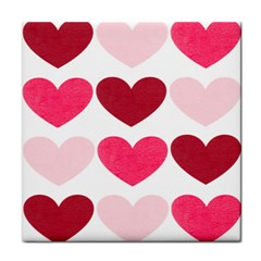 Valentine S Day Hearts Tile Coasters