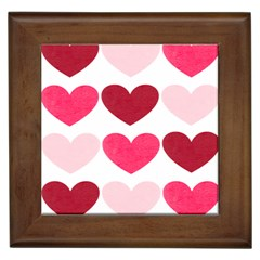 Valentine S Day Hearts Framed Tiles