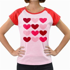 Valentine S Day Hearts Women s Cap Sleeve T-Shirt