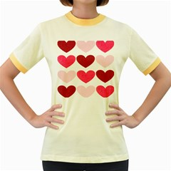 Valentine S Day Hearts Women s Fitted Ringer T-Shirts