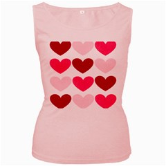 Valentine S Day Hearts Women s Pink Tank Top