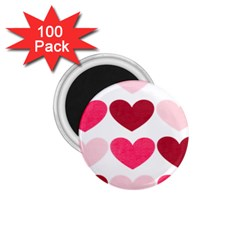 Valentine S Day Hearts 1.75  Magnets (100 pack)