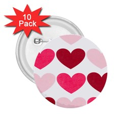 Valentine S Day Hearts 2.25  Buttons (10 pack)