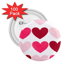Valentine S Day Hearts 2.25  Buttons (100 pack)