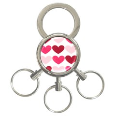 Valentine S Day Hearts 3-Ring Key Chains