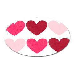 Valentine S Day Hearts Oval Magnet