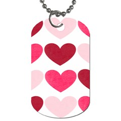 Valentine S Day Hearts Dog Tag (One Side)
