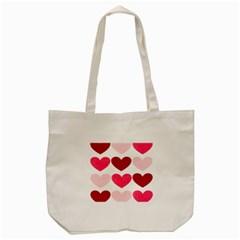Valentine S Day Hearts Tote Bag (Cream)