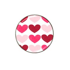 Valentine S Day Hearts Hat Clip Ball Marker (10 pack)