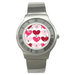 Valentine S Day Hearts Stainless Steel Watch