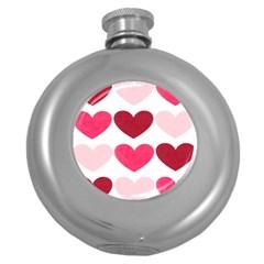 Valentine S Day Hearts Round Hip Flask (5 oz)
