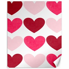 Valentine S Day Hearts Canvas 16  x 20