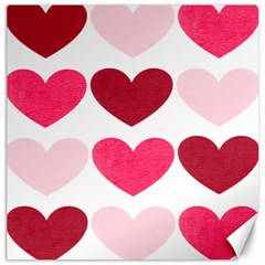 Valentine S Day Hearts Canvas 20  x 20