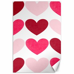Valentine S Day Hearts Canvas 24  X 36