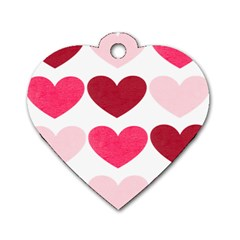 Valentine S Day Hearts Dog Tag Heart (Two Sides)