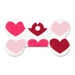 Valentine S Day Hearts Dog Tag Bone (Two Sides)
