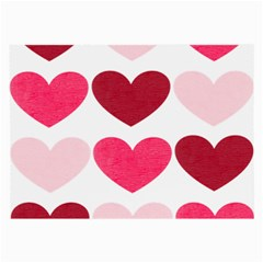 Valentine S Day Hearts Large Glasses Cloth (2-Side)