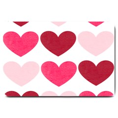 Valentine S Day Hearts Large Doormat