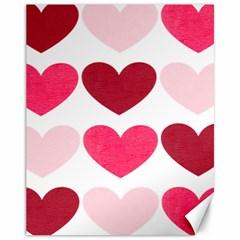 Valentine S Day Hearts Canvas 11  x 14