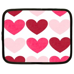 Valentine S Day Hearts Netbook Case (Large)