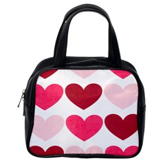 Valentine S Day Hearts Classic Handbags (One Side)