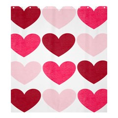 Valentine S Day Hearts Shower Curtain 66  X 72  (large)