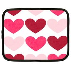 Valentine S Day Hearts Netbook Case (xxl)