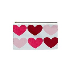 Valentine S Day Hearts Cosmetic Bag (Small)