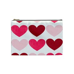 Valentine S Day Hearts Cosmetic Bag (Medium)