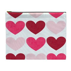 Valentine S Day Hearts Cosmetic Bag (XL)