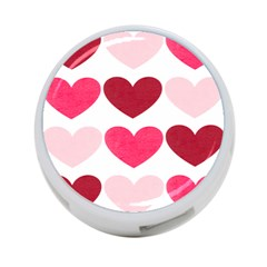 Valentine S Day Hearts 4-Port USB Hub (One Side)