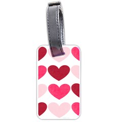 Valentine S Day Hearts Luggage Tags (One Side)