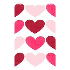 Valentine S Day Hearts Shower Curtain 48  x 72  (Small)