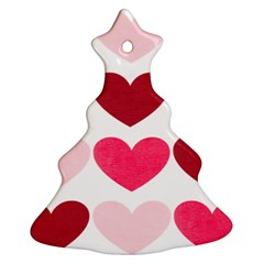Valentine S Day Hearts Christmas Tree Ornament (Two Sides)