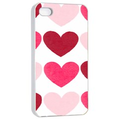 Valentine S Day Hearts Apple iPhone 4/4s Seamless Case (White)