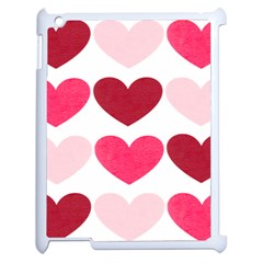 Valentine S Day Hearts Apple iPad 2 Case (White)